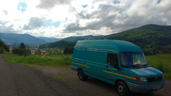 Van Life, Living in a van, Travelling Europe in a van, LDV conversion, Van Life Germany, Switzerland, Austria,