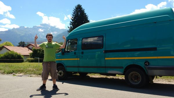 Van Life, Living in a van, Travelling Europe in a van, LDV conversion, Van Life Germany,